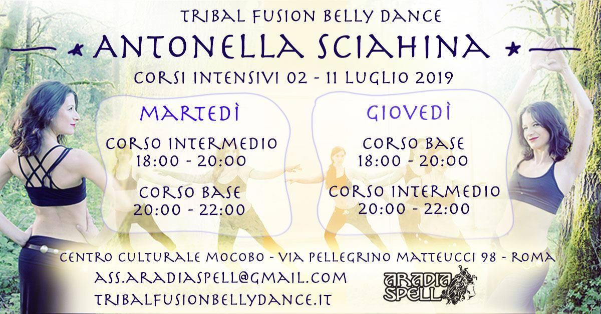 Corsi intensivi TRIBAL FUSION con Antonella Sciahina